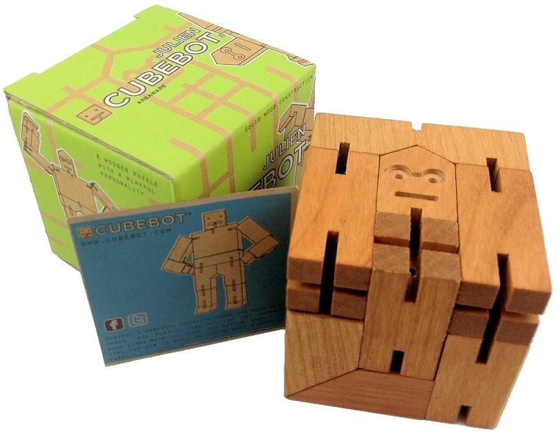 Julien Cubebot Wooden Brainteaser Puzzle