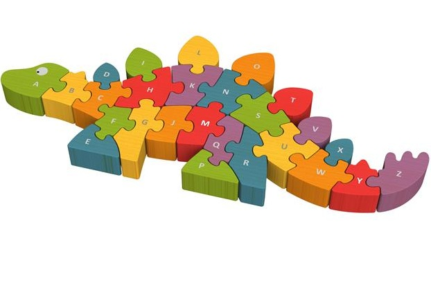 Dinosaur A To Z Alphabet Chunky Wooden Puzzle