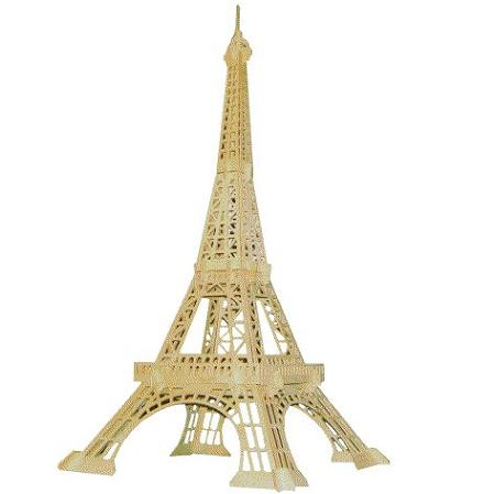 Large Picture Eiffel Tower on Eiffel Tower Large 3d Jigsaw Woodcraft Kit Wooden Puzzle Eiffel Tower