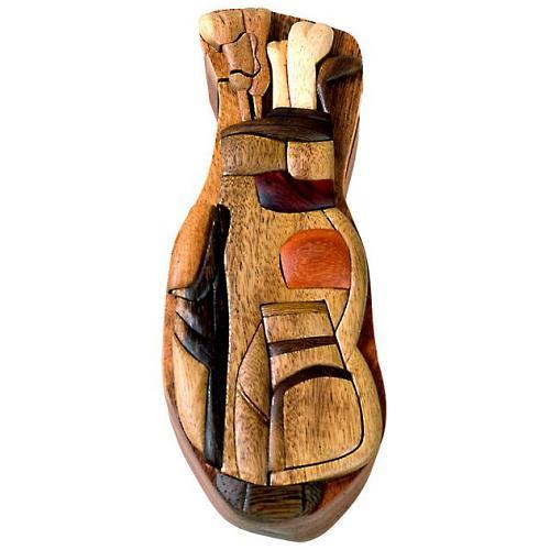 Golf Bag Secret Wooden Puzzle Box