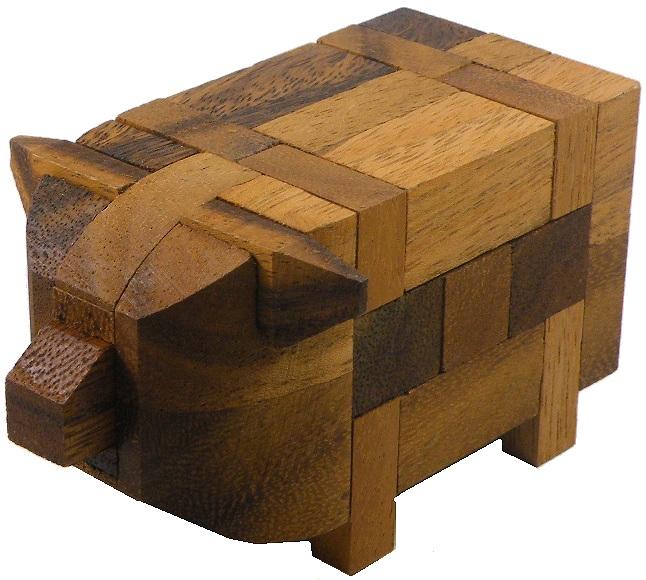 3D Brain Teaser Wooden Puzzle