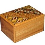 3 Sun 4 Steps Natural Wood / Koyosegi - Japanese Puzzle Box