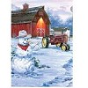 Country Snowman - 300 Pieces Jigsaw Puzzle By Buffalo Games