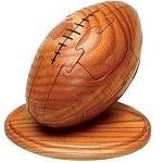 Football 3D Jigsaw Wooden Puzzle With Sports Trivia Cards