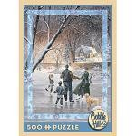 Family Skate - 500 Pieces Jigsaw Puzzle By Cobble Hill