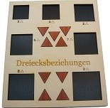 Dreiecksbeziehungen (Triangular Relationship) - Math Packing Problem Wooden Puzzle