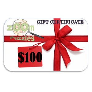 $100 Zoom Puzzles Gift Certificate