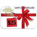 $25 Zoom Puzzles Gift Certificate