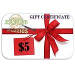 $5 Zoom Puzzles Gift Certificate