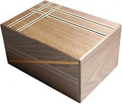 6 Sun 14 Step Walnut D - Japanese Puzzle Box