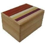 3 Sun 12 Steps Natural Wood Kusu - Japanese Puzzle Box