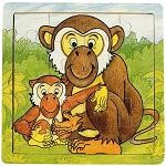 Monkeys - Jigsaw 21pc Wooden Puzzle