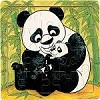 Panda & Cub - Jigsaw 21pc Wooden Puzzle