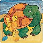 Turtle Family - Jigsaw 21pc Wooden Puzzle