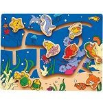 Ocean Life Maze - Wooden Puzzle Play