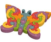 Butterfly A To Z- Alphabet Chunky - Wooden Puzzle