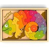 Counting Chameleon - Numbers Chunky Wooden Puzzle