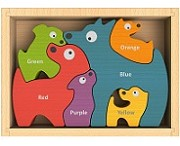 Dog Family Chunky Wooden Puzzle