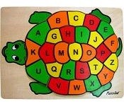 Turtle ABC - Jigsaw Raised Wooden Puzzle
