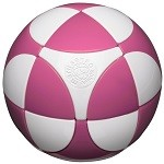 Marusenko Sphere Stage 1 White and Pink Rotation Puzzle