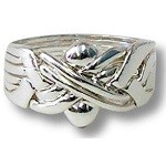 6 Band Sterling Silver Puzzle Ring
