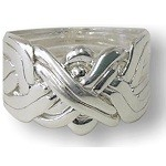 8 Band Sterling Silver Puzzle Ring