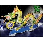 Dragon - Illuminated 3D Jigsaw Woodcraft Kit Wooden Puzzle