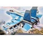 F-18 Hornet - Illuminated 3D Jigsaw Woodcraft Kit Wooden Puzzle