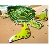 Green Turtle - Illuminated 3D Jigsaw Woodcraft Kit Wooden Puzzle