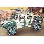 Hummer H1 (L) - Illuminated 3D Jigsaw Woodcraft Kit Wooden Puzzle