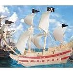 Pirate Ship (L) - 3D Jigsaw Woodcraft Kit Wooden Puzzle