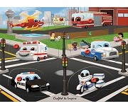 Rescue Vehicles - Wooden Peg Puzzle