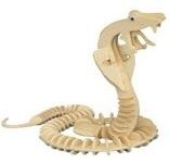 Snake - 3D Jigsaw Woodcraft Kit Wooden Puzzle