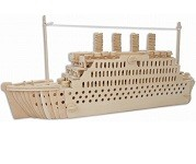 Titanic Ship - 3D Jigsaw Woodcraft Kit Wooden Puzzle