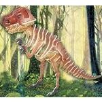 Tyrannosaurus - Illuminated 3D Jigsaw Woodcraft Kit Wooden Puzzle