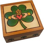 Claddaugh - Secret Wooden Puzzle Box
