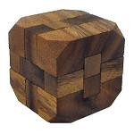 Diamond Cube Large - Wooden Brain Teaser Puzzle
