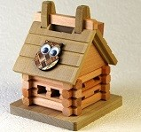 Log House - Kumiki 3d Piggy Bank Wooden Puzzle