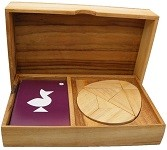 Logic Egg Tangram Set with play Cards Wooden Puzzle Game