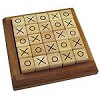 Mosaic Tic Tac Toe - Wooden Strategy Game