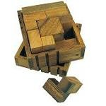 Packing Challenge Box - Brain Teaser Wooden Puzzle