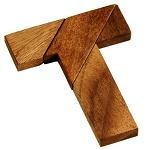 T Puzzle - Wooden Brain Teaser