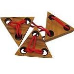 Three Triangles String - Brain Teaser Wood Puzzle