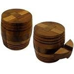 Winery Barrel - Brain Teaser Wooden Puzzle
