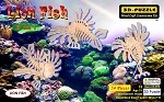 Lion Fish - 3D Jigsaw Woodcraft Kit Wooden Puzzle