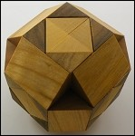 Cross in Ball - Brain Teaser Wooden Puzzle