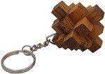 Steps Key Chain - Wooden Puzzle Brainteaser